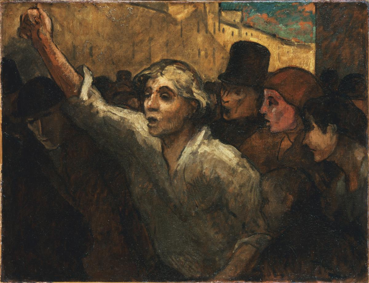 """Phillips acquired Honoré Daumier's The Uprising (1848 or later, oil on canvas) in 1925. He repeatedly referred to it as the """"greatest picture in the Collection."""""""