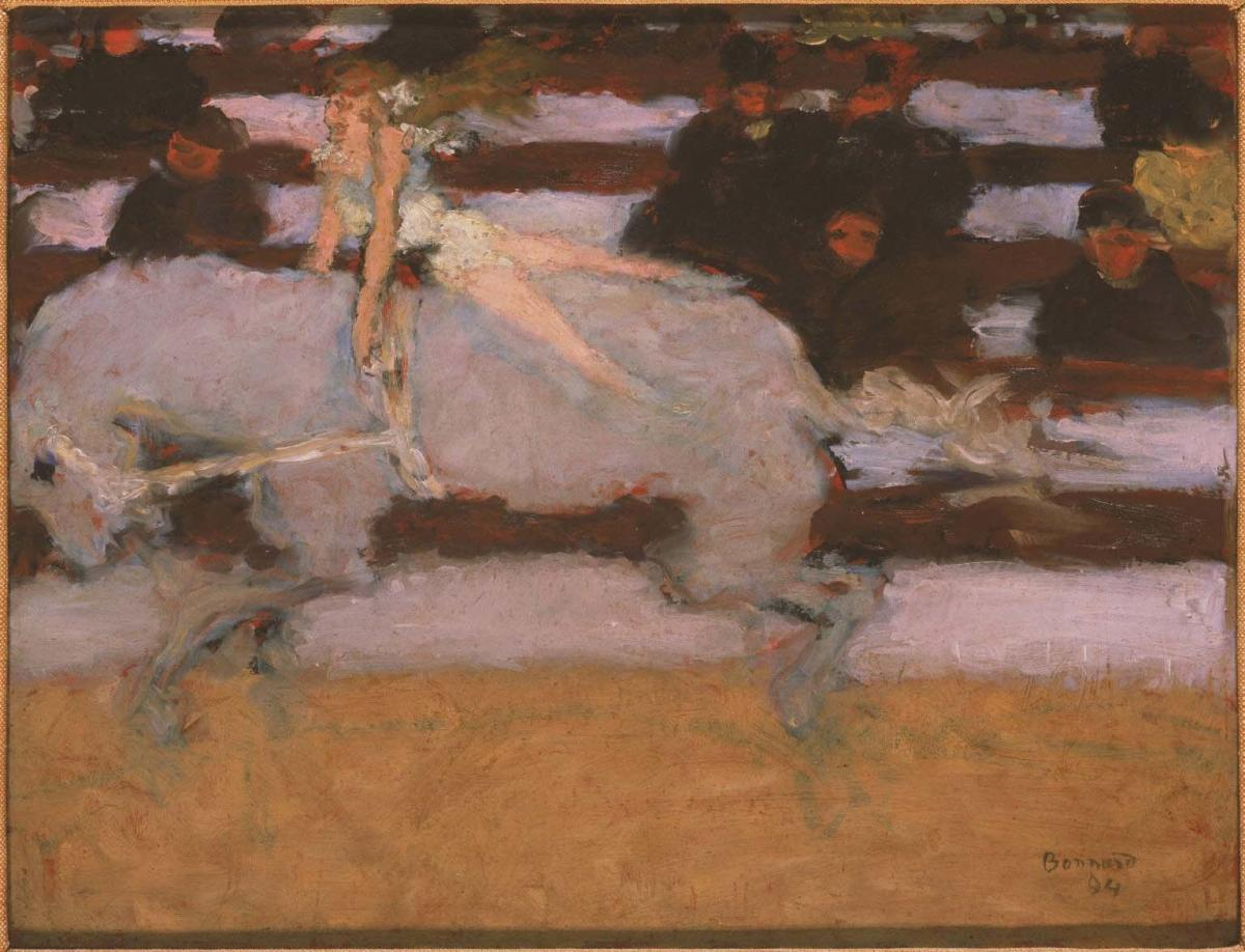Pierre Bonnard's Circus Rider (1894, oil on academy board) was acquired in 1947.