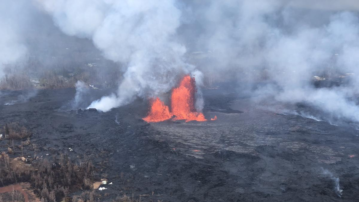 On May 28, lava fountains were reaching heights of 200 feet.