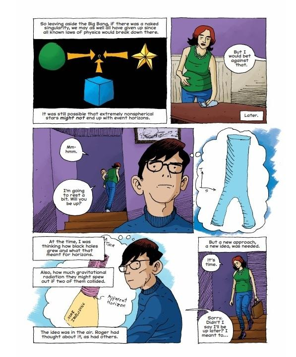 Page from Hawking by Jim Ottaviani and Leland Myrick.