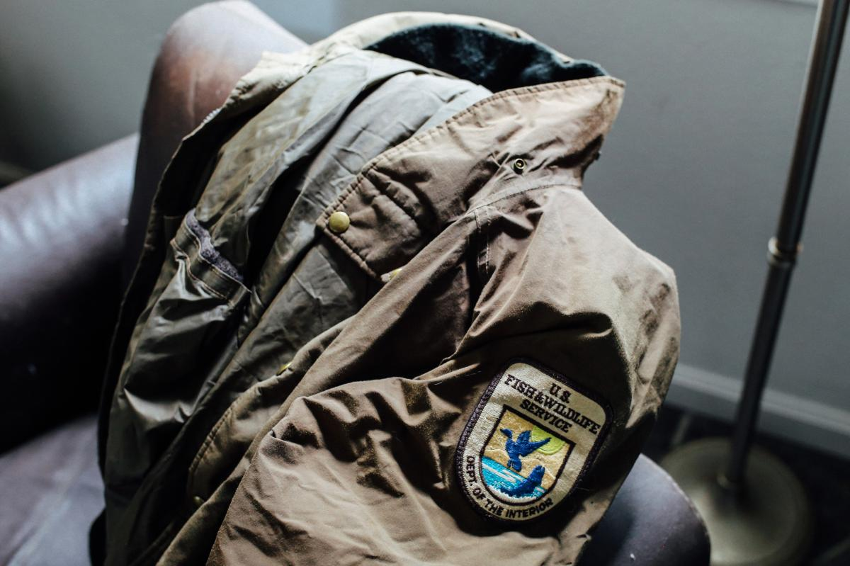 Lori Guadagno says she still wears her brother's U.S. Fish and Wildlife Service jacket.