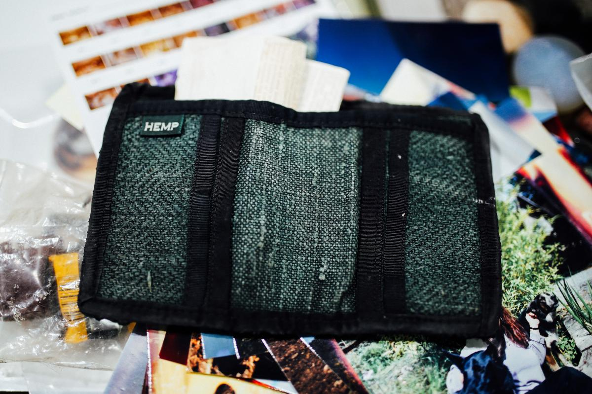 Richard Guadagno's hemp wallet was the only thing his sister could ID from the binder. It still held a receipt from their time together in Vermont.