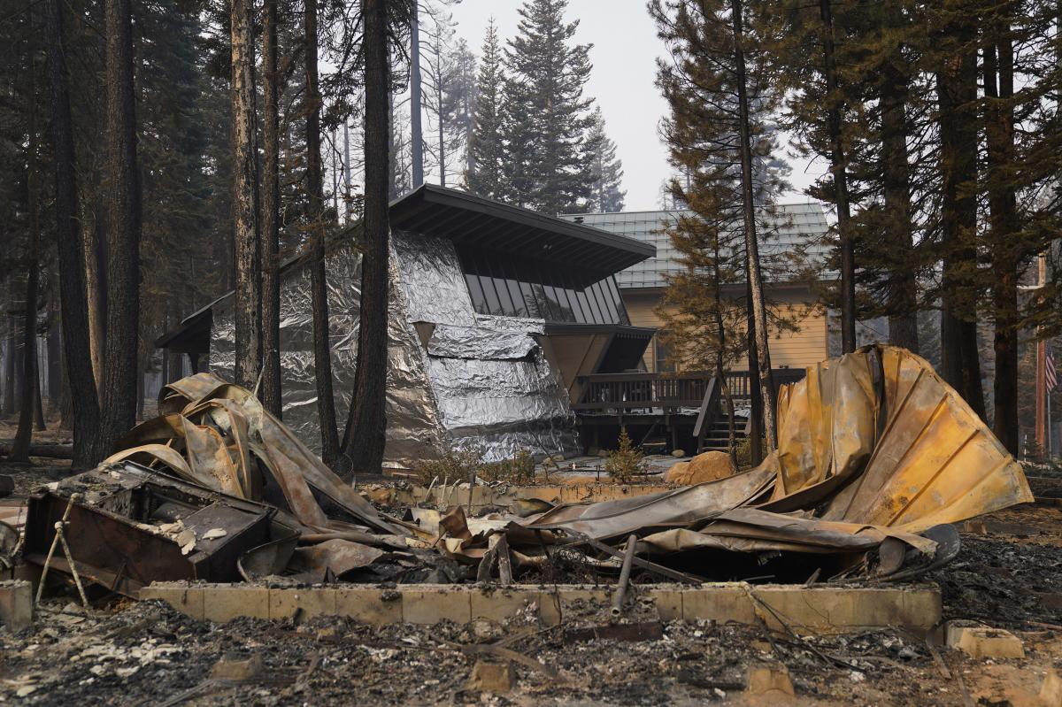 Aluminum wraps designed to protect homes from flames are getting attention as wildfires burn in California.