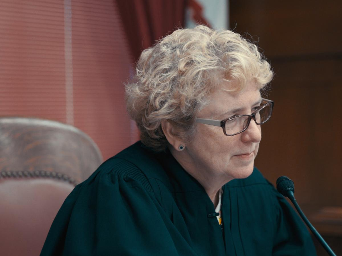 Judge Patricia Keller, pictured here in a still from Heroin(e), established a drug court program in Cabell County, W.V. to help participants overcome addictions.
