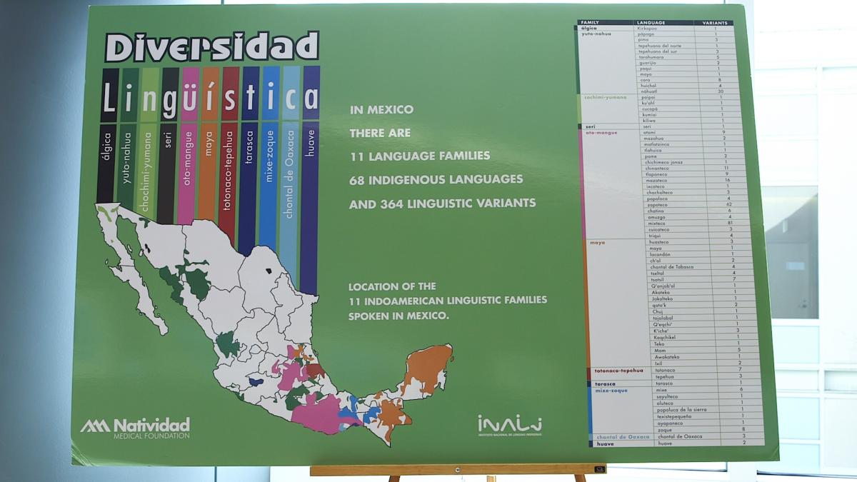 This map shows where Mexican indigenous languages originate. Triqui and Mixteco belong to the Oto-Mangue family, in the southwest of the country.