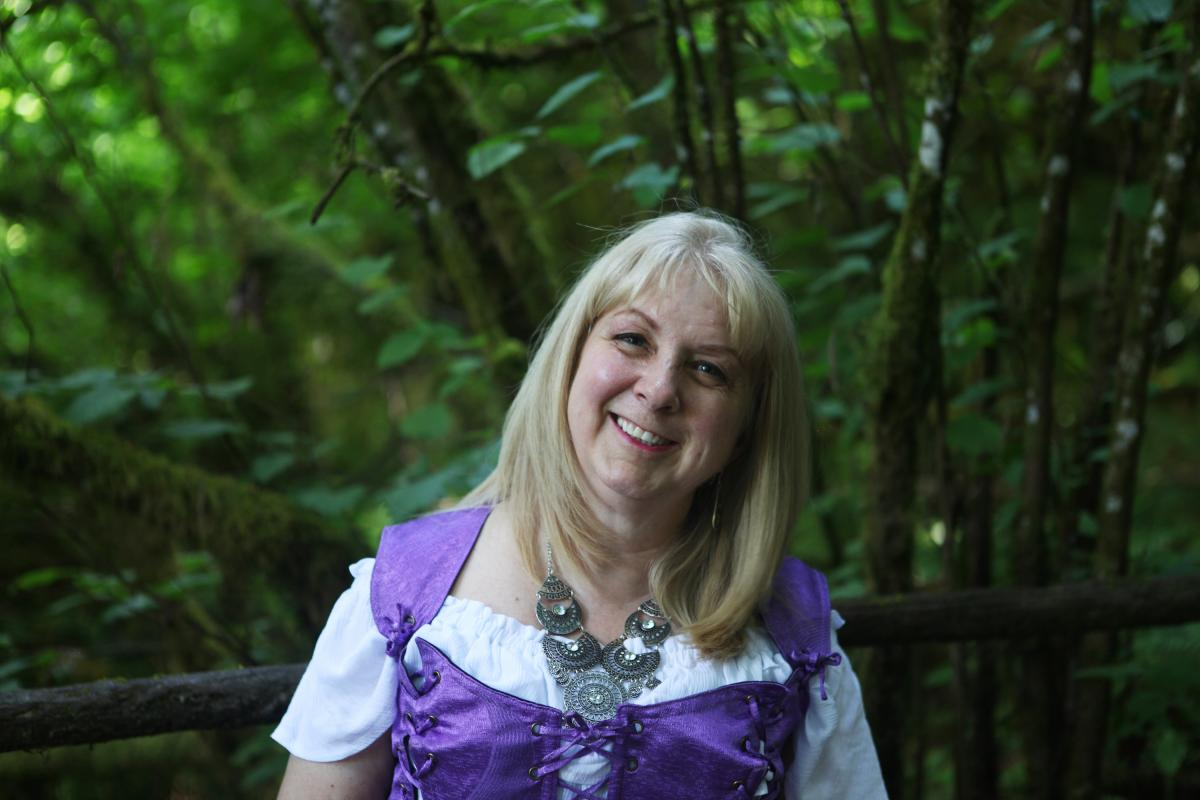 """Susan Vaslev, 62, is the oldest of Tofte's four children and helps run the Enchanted Forest these days. She also performs in an Irish band at the park. """"If you have a vision, you just keep working at it, bit by bit by bit, and eventually, it will get done"""