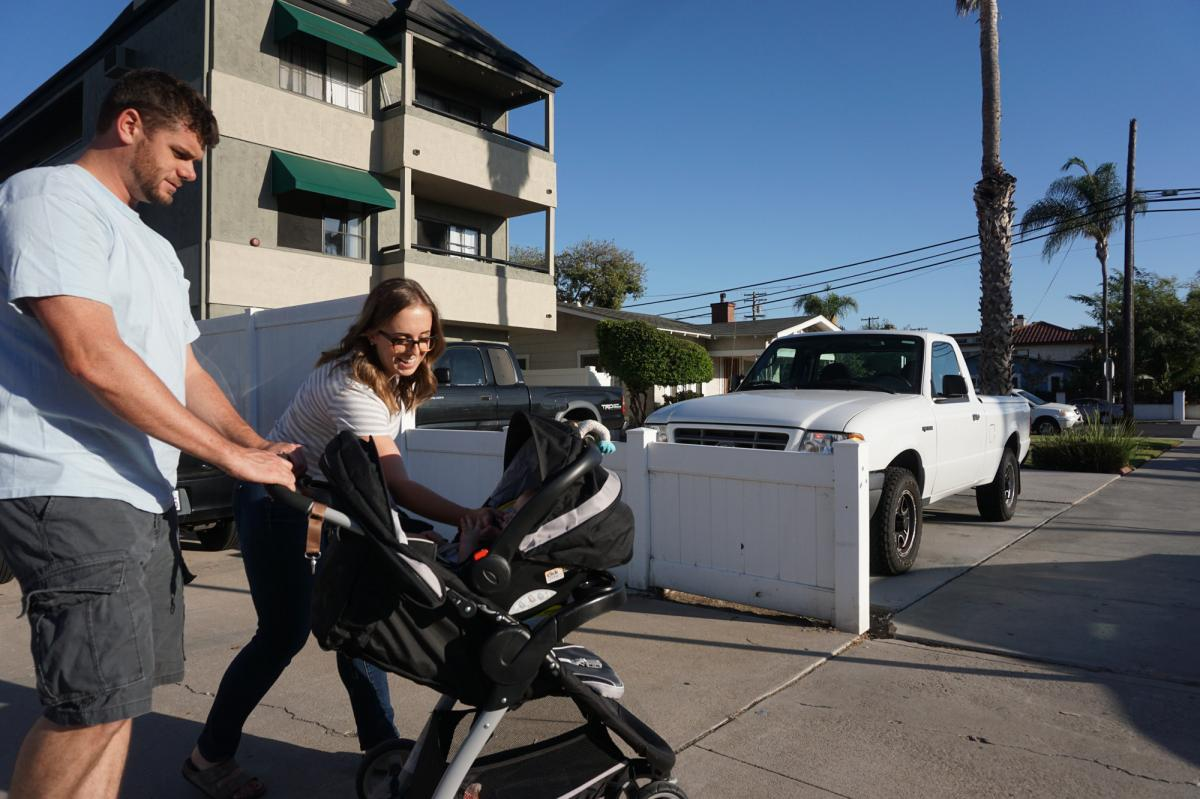 The Fugates still make time to stroll their San Diego neighborhood together. In a survey of California companies, more than 90 percent of businesses reported a neutral or positive impact on their companies after the 2002 California family leave law was en