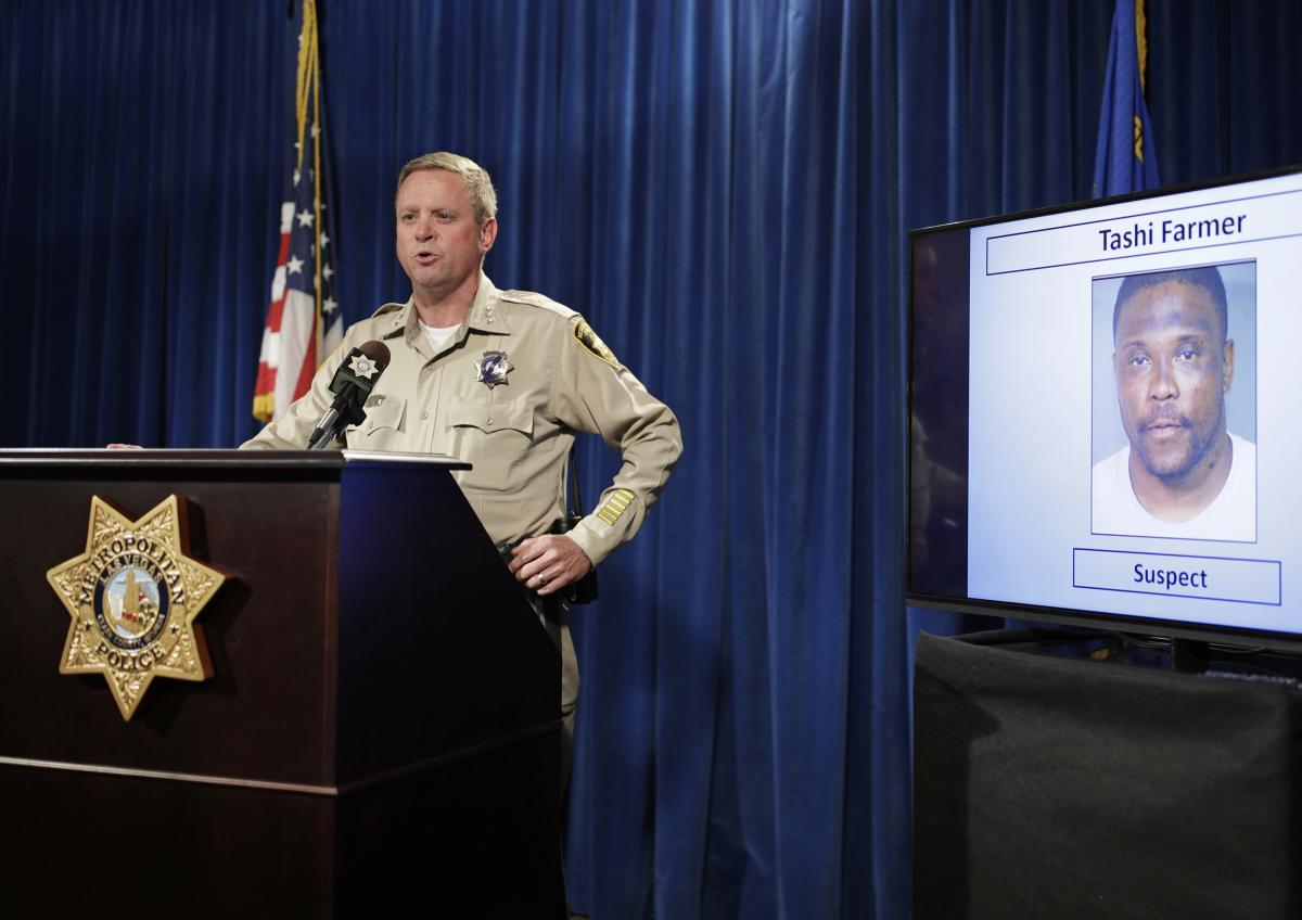 Las Vegas police Undersheriff Kevin McMahill speaks in Las Vegas on May 17, 2017, after the death of Tashii S. Brown, known as Tashii Farmer-Brown. Police had used a stun gun and a chokehold on him. In a change announced in September 2017, Las Vegas polic