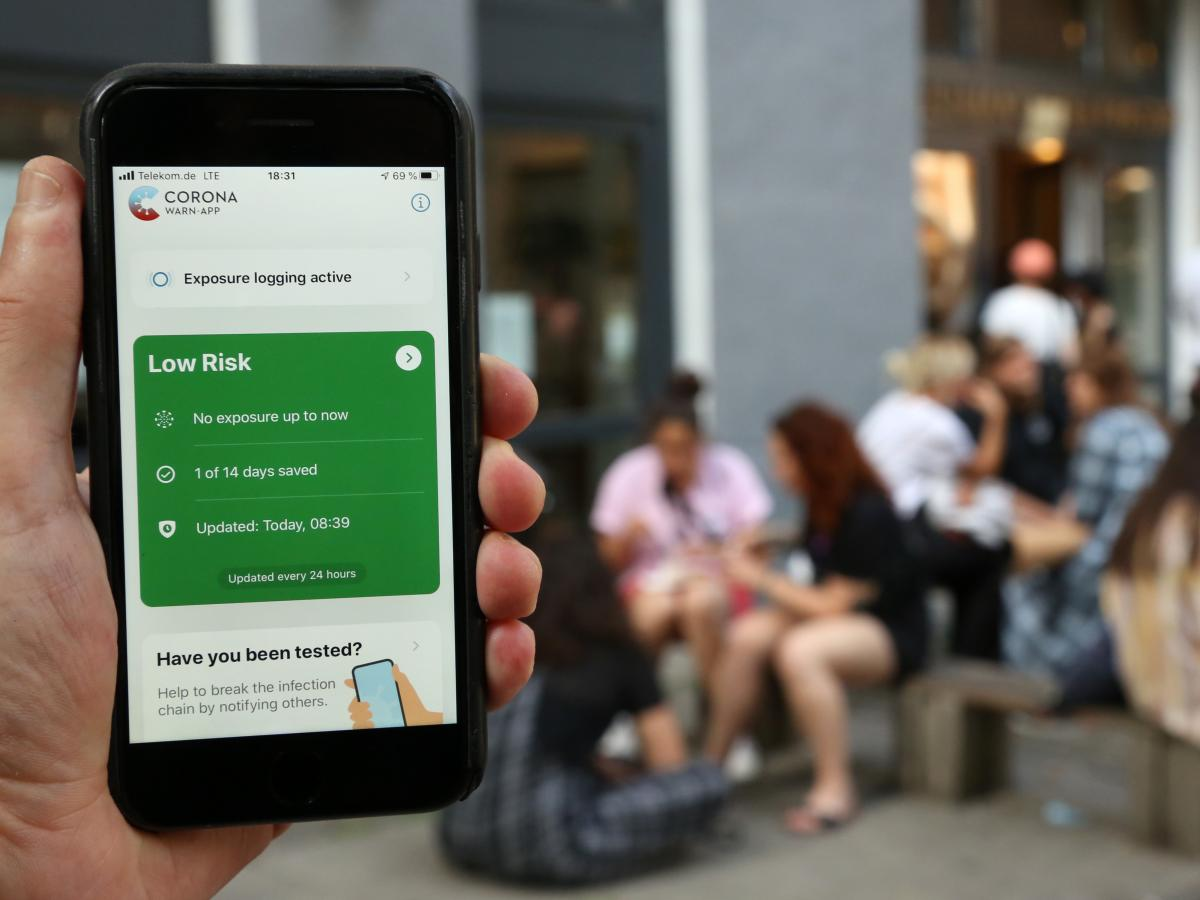 The Corona-Warn-App is Germany's newly launched contact-tracing smartphone app.