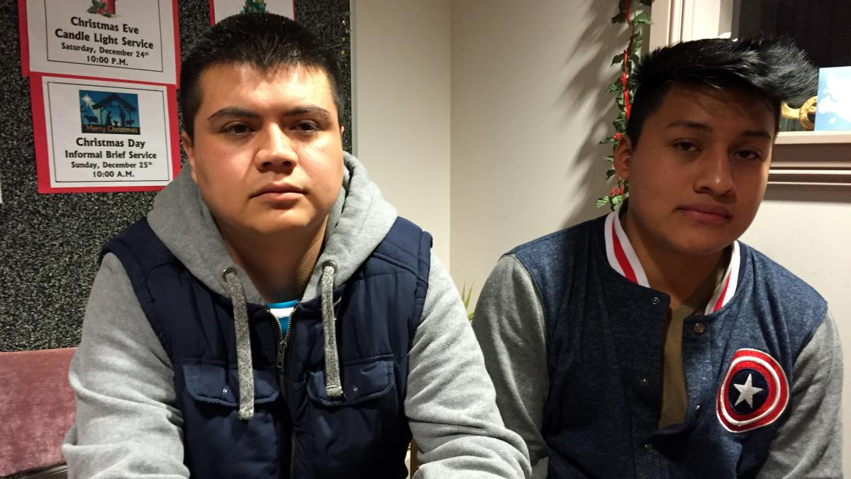 During one of the biggest immigration raids in recent years, ICE officers arrested Jose Antonio Ramos, 29 (left), a cook at a taco eatery and grocery store called La Divina, and Sergio Medellin, 19, a sous chef at Agave Mexican restaurant. They are facing