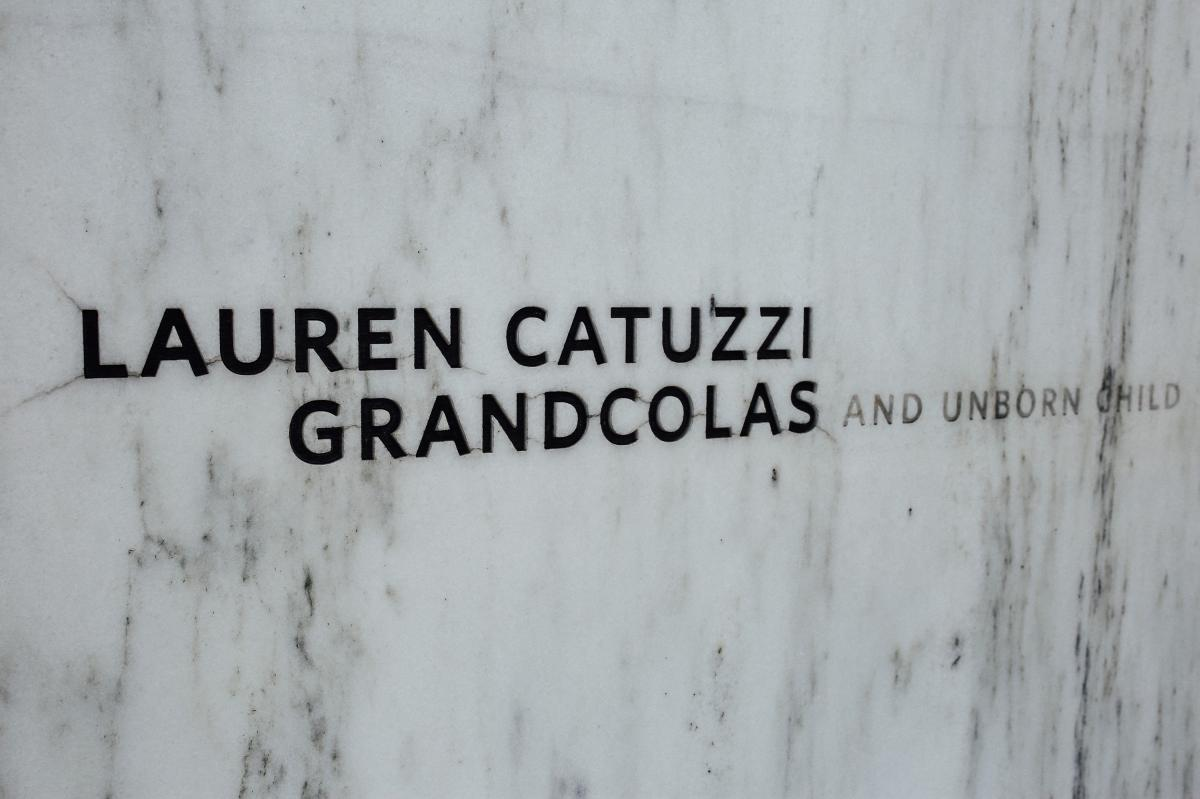 Lauren Grandcolas' name and her unborn child are inscribed on the Wall of Names at the Flight 93 National Memorial in southwestern Pennsylvania.