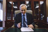 Robert Laurino, the chief prosecutor in Essex County, N.J., sits behind his desk at Veterans Courthouse in Newark. Laurino has been an advocate for victims of sexual violence, including those with cognitive disabilities, for more than 25 years.