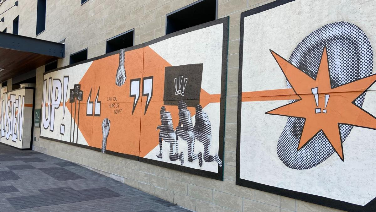 Murals in Grand Rapids.