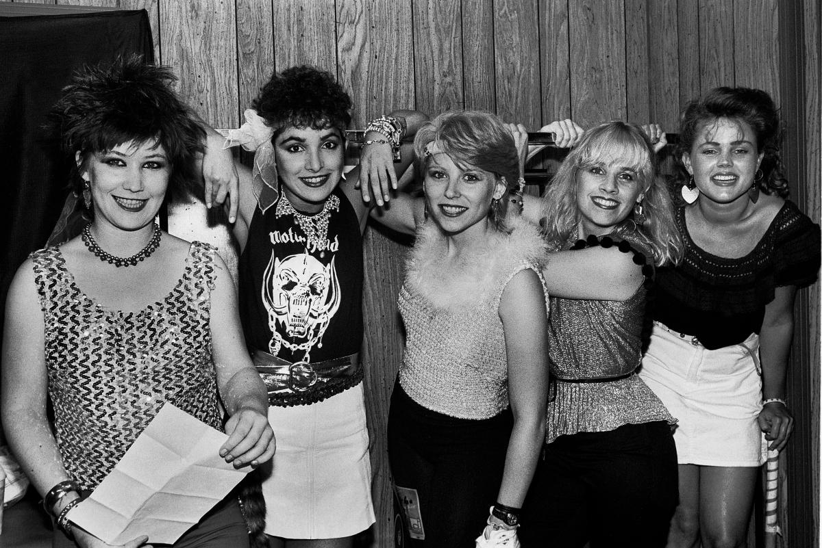 The Go-Go's backstage in Rockford, Ill.