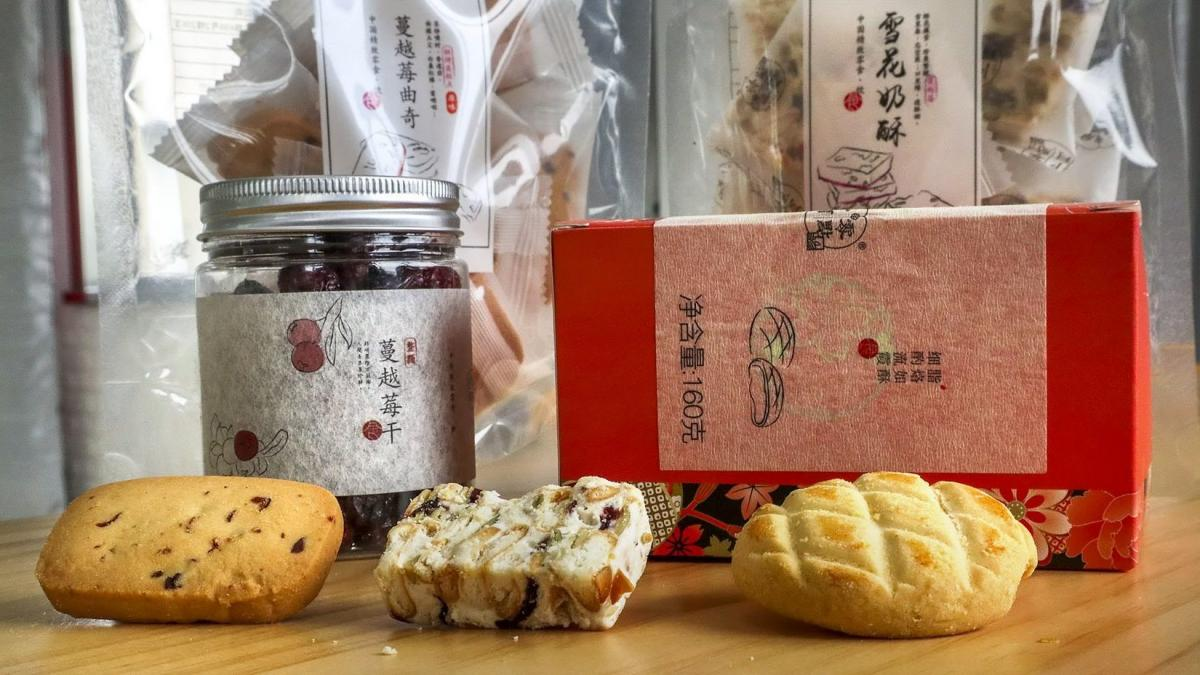 Various cranberry-flavored snacks made by Shanghai Bouquet Food Co. The company used to buy about 300 to 400 tons of American dried cranberries each year. But after Chinese trade authorities raised the tariff on U.S. cranberries, Bouquet switched to Canad