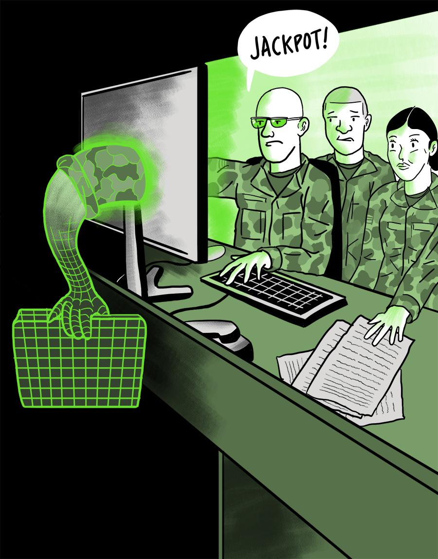 The mission — led by a special unit working with U.S. Cyber Command and the NSA — was to get inside the ISIS network and disrupt the terrorist organization's media operation.