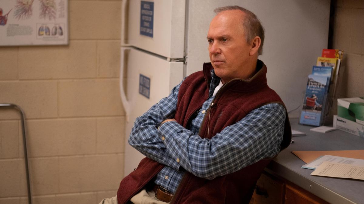 Michael Keaton plays Dr. Sam Finnix in Hulu's Dopesick.