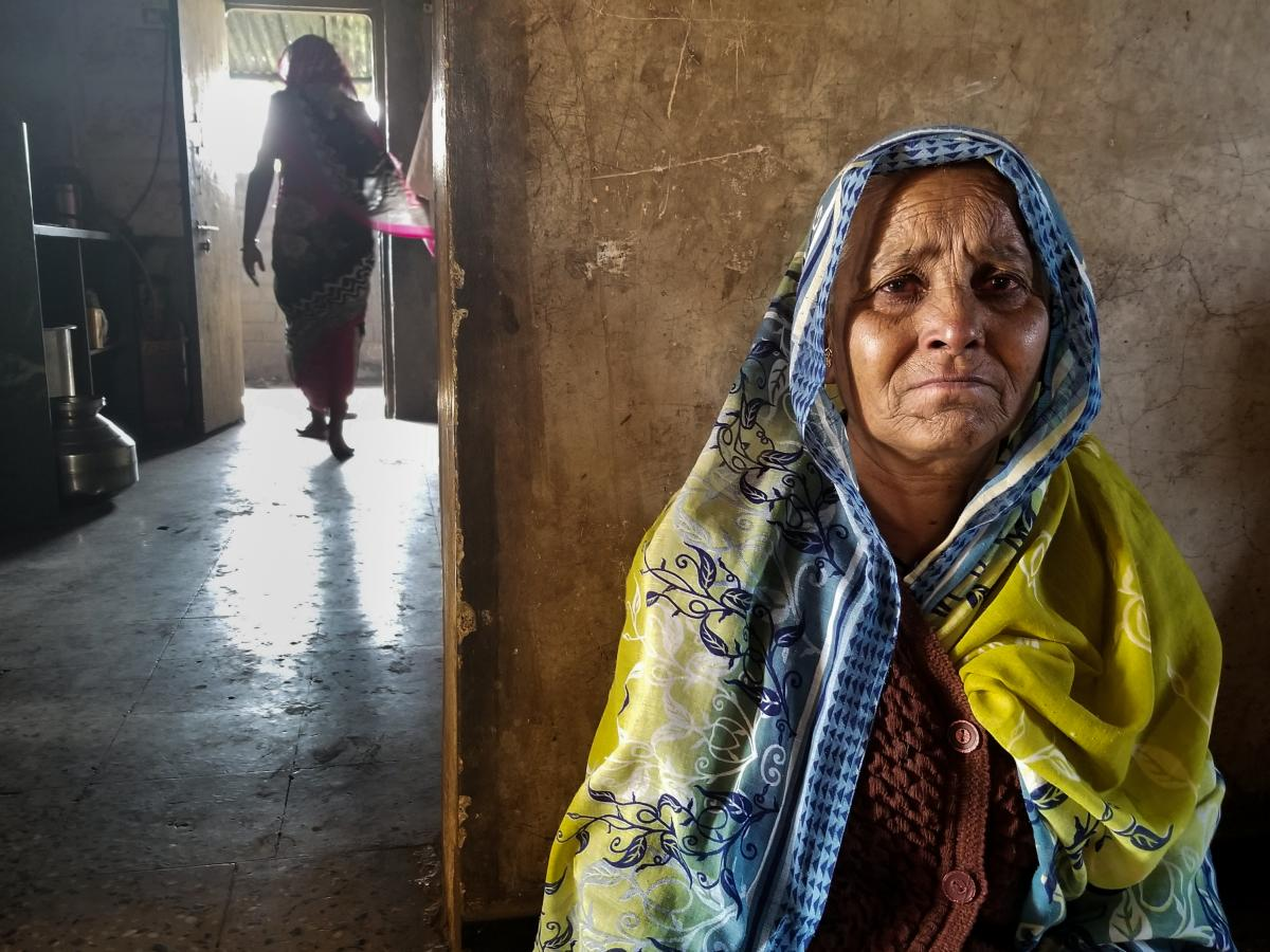 Irabai Jadhav, 60, is the matriarch of a family of onion farmers in Maharashtra. Her eldest son killed himself in late November. He had been about $40,000 in debt. Jadhav's husband died of a heart attack 12 days later. Now she is left with all their bills