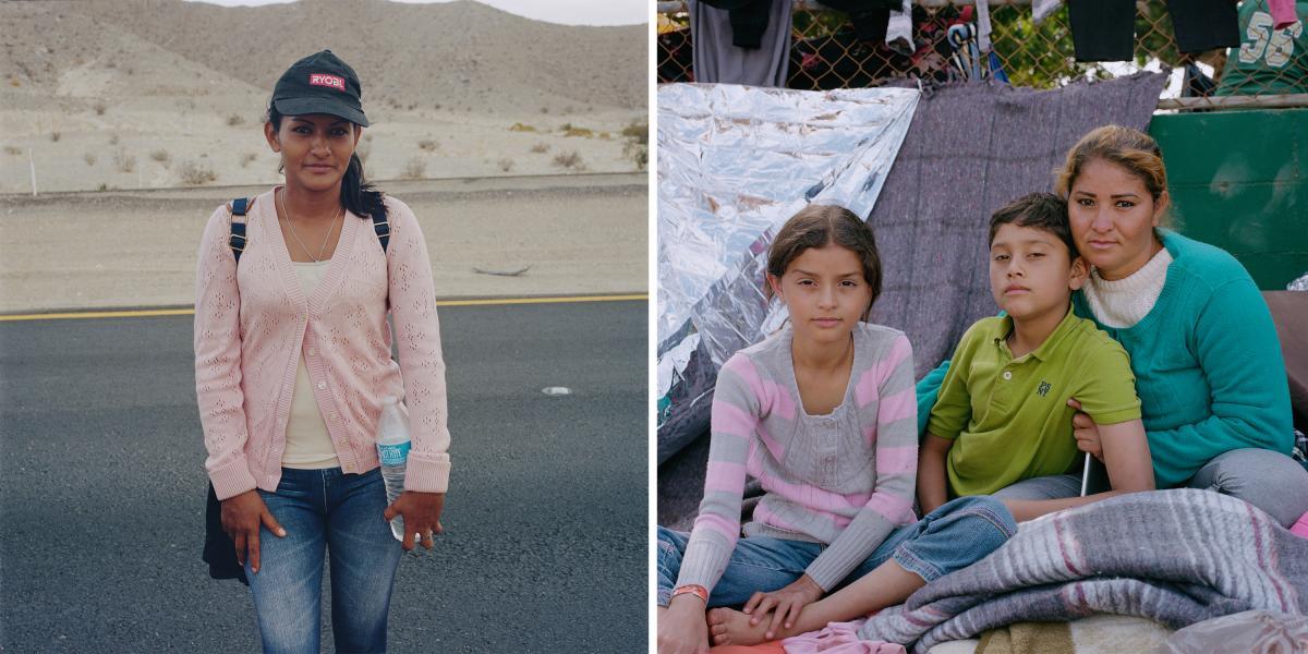 "(Left) Carmen Enamorado Alba, 31, is from Guaimaca, Honduras. (Right) Margarita Alberto Escobar, 39, sits with her children Dallana Michelle, 10, and Allan José Vargas, 12. They are from the Honduran town of Gracias. ""The doctor told me [Dallana] may hav"