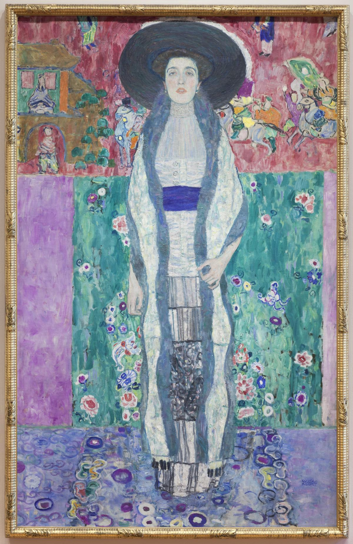 Klimt's Adele Bloch-Bauer II is on view at The Museum of Modern Art.