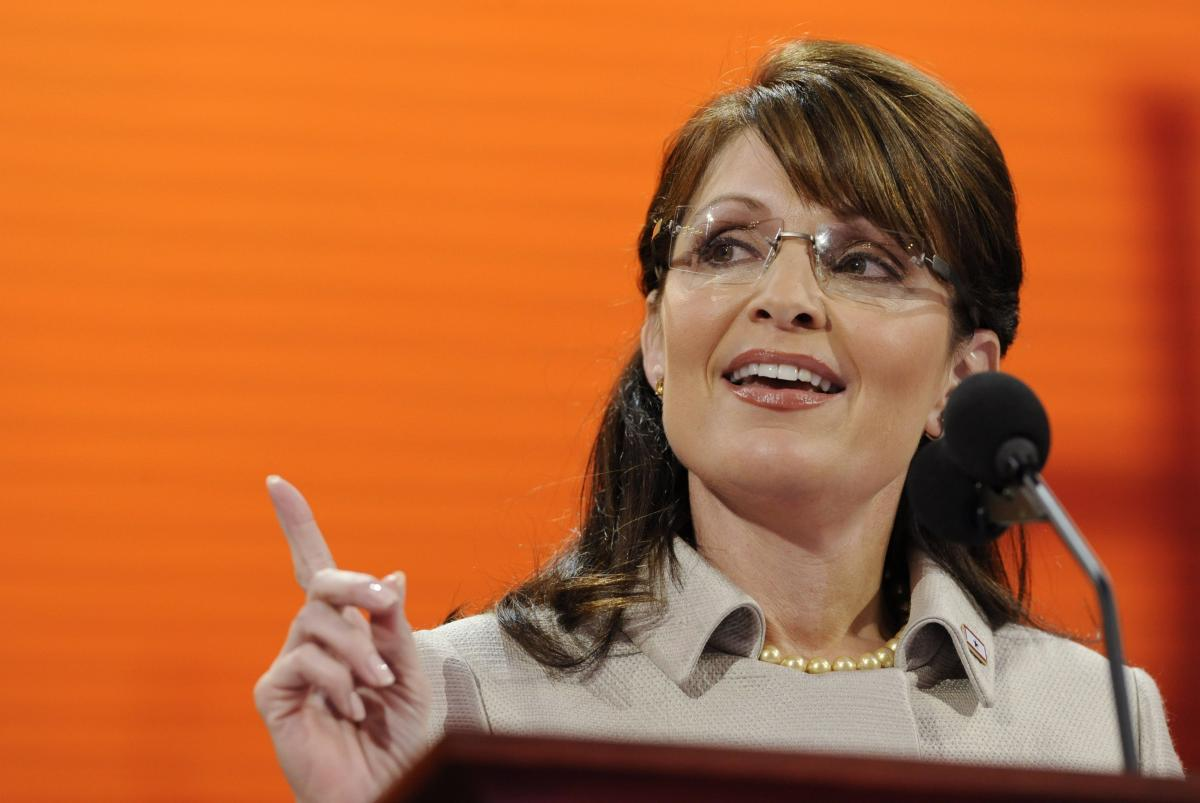 Then-Alaska Gov. Sarah Palin accepts the Republican nomination for vice president in September 2008.