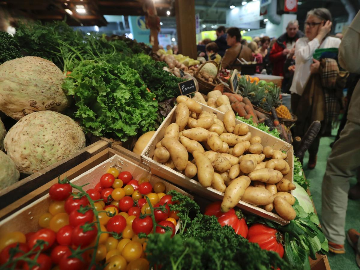 France is Europe's top agricultural producer. Vegetables and fruit are on display at the 10-day Paris agricultural fair.