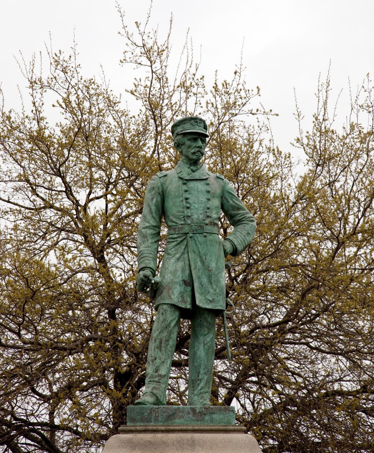 Statue of Rear Adm. Raphael Semmes, Mobile, Ala., in 2010.