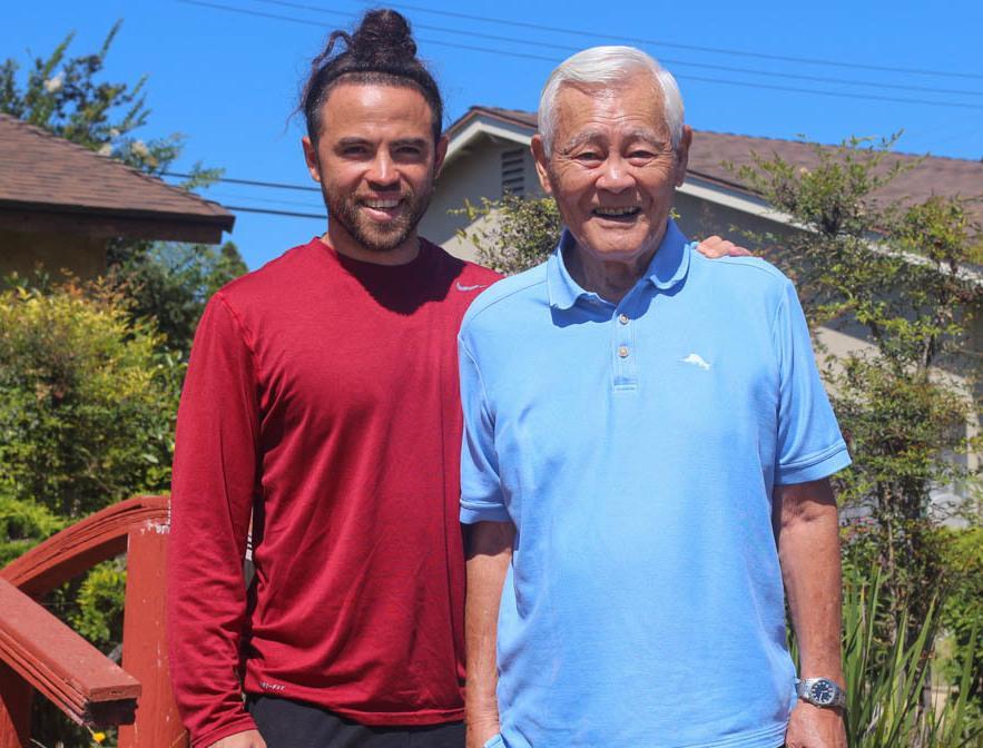 Shig Yabu, with his grandson Evan Yabu, at their StoryCorps recording in Camarillo, Calif., in September 2019.