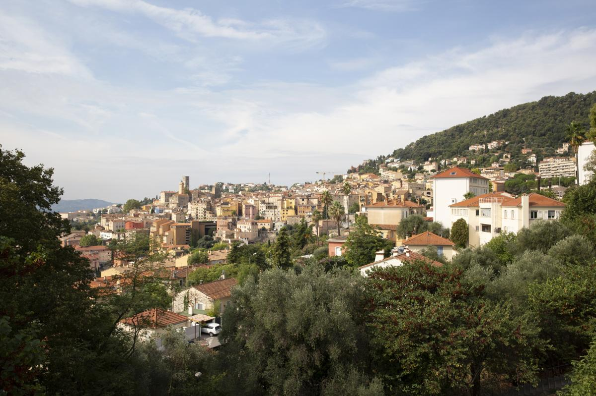 A view of Grasse, the perfume capital of the world, in the hills above Cannes in southern France.