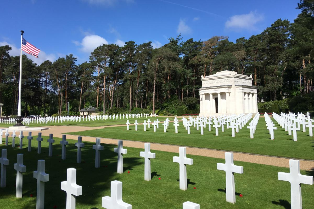More than 460 Americans are buried at the Brookwood American Cemetery, in the county of Surrey, outside London.