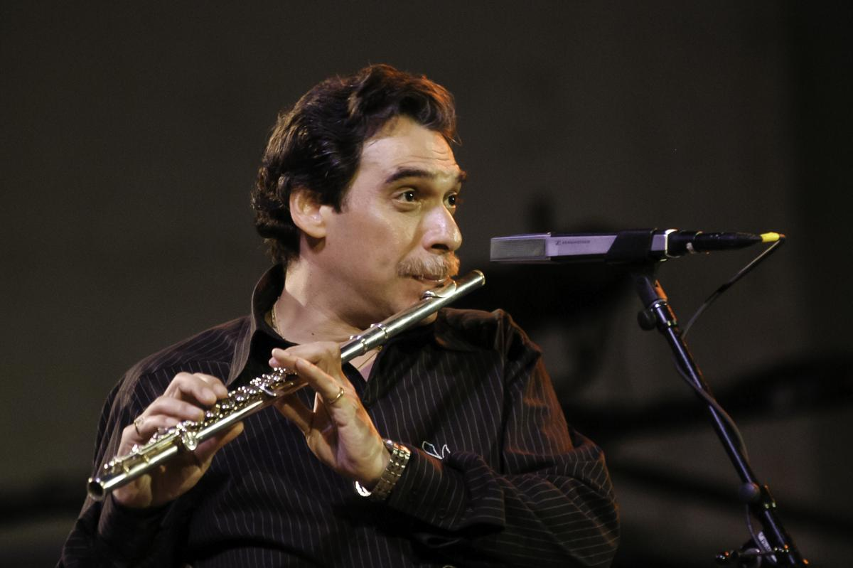 Jazz Musician And Flutist Dave Valentin Performs With The McCoy Tyner Trio  In New York City