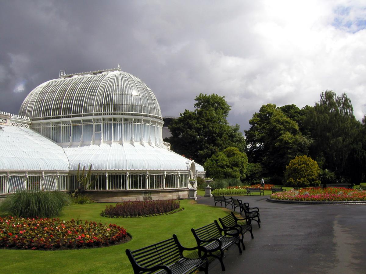 The Palm House in Belfast's Botanic Gardens houses a range of tropical plants.