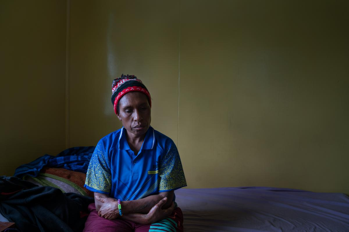 Margaret Kambao, a divorced mother of four, lives with her younger children at a safe house in Goroka. In 2015, she was accused of sorcery and tortured by members of her community in Enga Province. The mob stripped her naked, tied her hands and pushed her