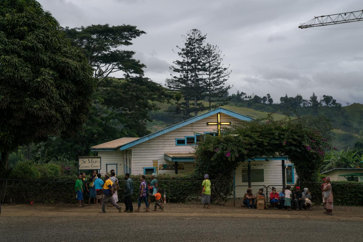 St. Mary's is a Roman Catholic church in Goroka, the capital of the Eastern Highlands Province of Papua New Guinea. When Australian colonists and Christian missionaries arrived in the highlands at the start of the 20th century, they pressed residents to a