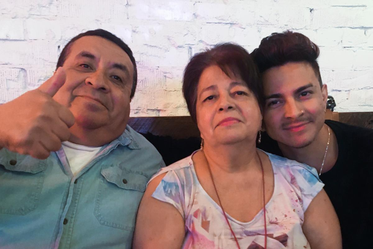 Miguel Lerma (right) says what his dad Jose Aldaco (left) cultivated most of all was a family where love and affection were the main currencies. Aldaco died of COVID-19 in July. His wife Virginia (center) also was hospitalized, but recovered.