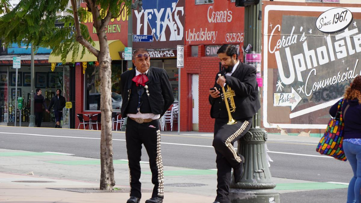 Boyle Heights residents fear gentrification will push out longtime residents of Boyle Heights and change the flavor of the community, like the musicians who gather in the neighborhood's Mariachi Plaza looking for gigs.