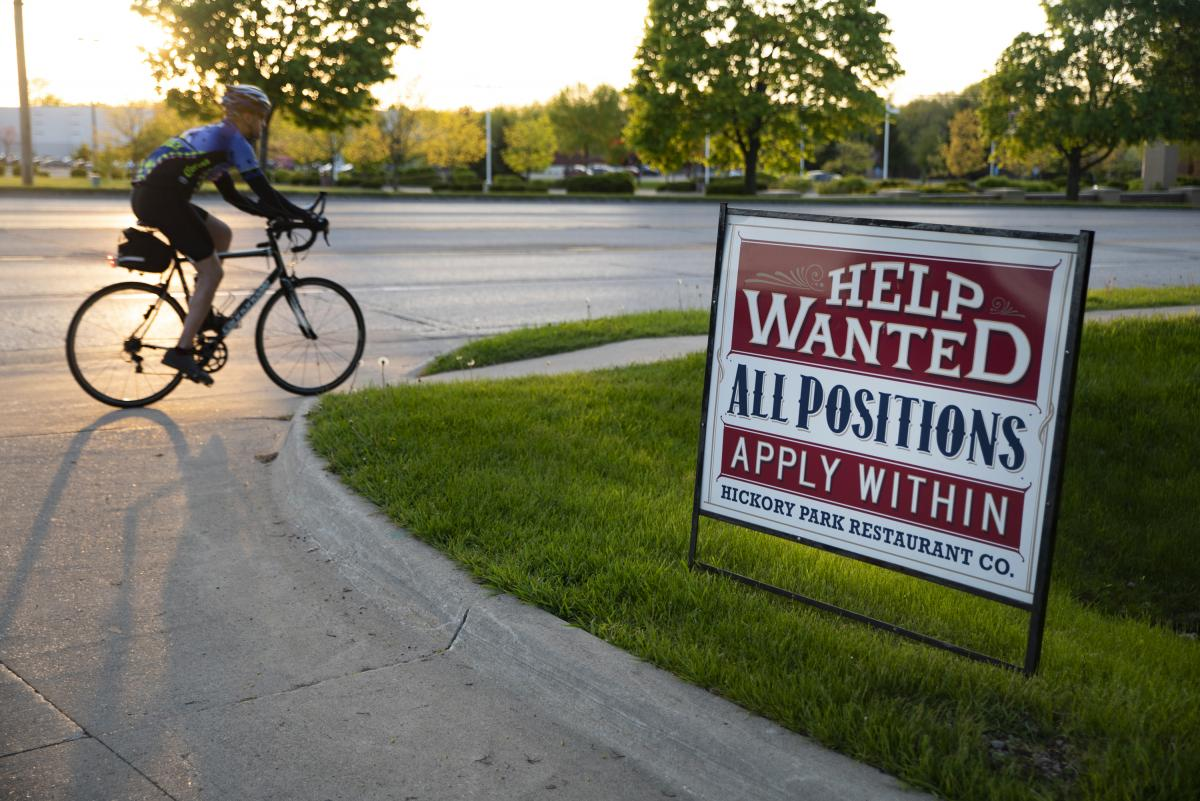 """The """"help wanted"""" sign outside Hickory Park has been there for two years, Kopecky says."""