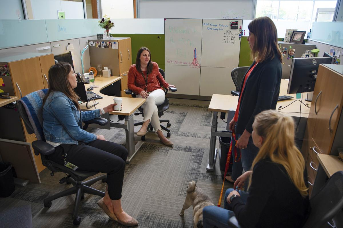 """Forrester checks in with members of the """"HR Ops pod"""" at Workiva. The company tries to sell prospective hires on the area's quality of life along with generous benefits."""