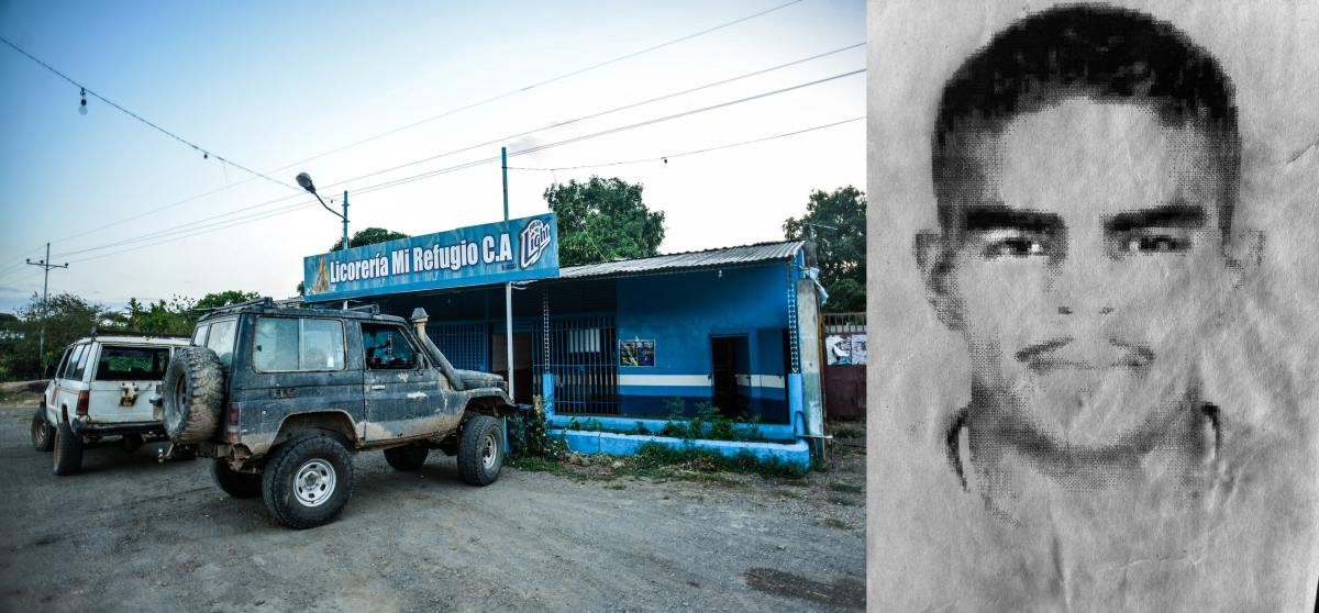 Narciso Antonio Barrios was killed by police when he was 22 years old, in this exact spot in Guanayen, Venezuela.