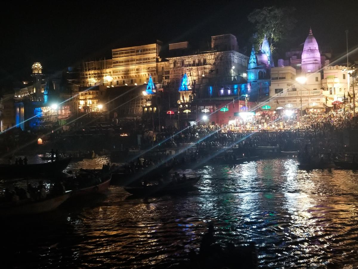 On an election-themed tour of India's heartland, tourists from Mumbai and New Delhi take photos of monuments, Hindu prayer ceremonies and funeral pyres along the banks of the Ganges River.
