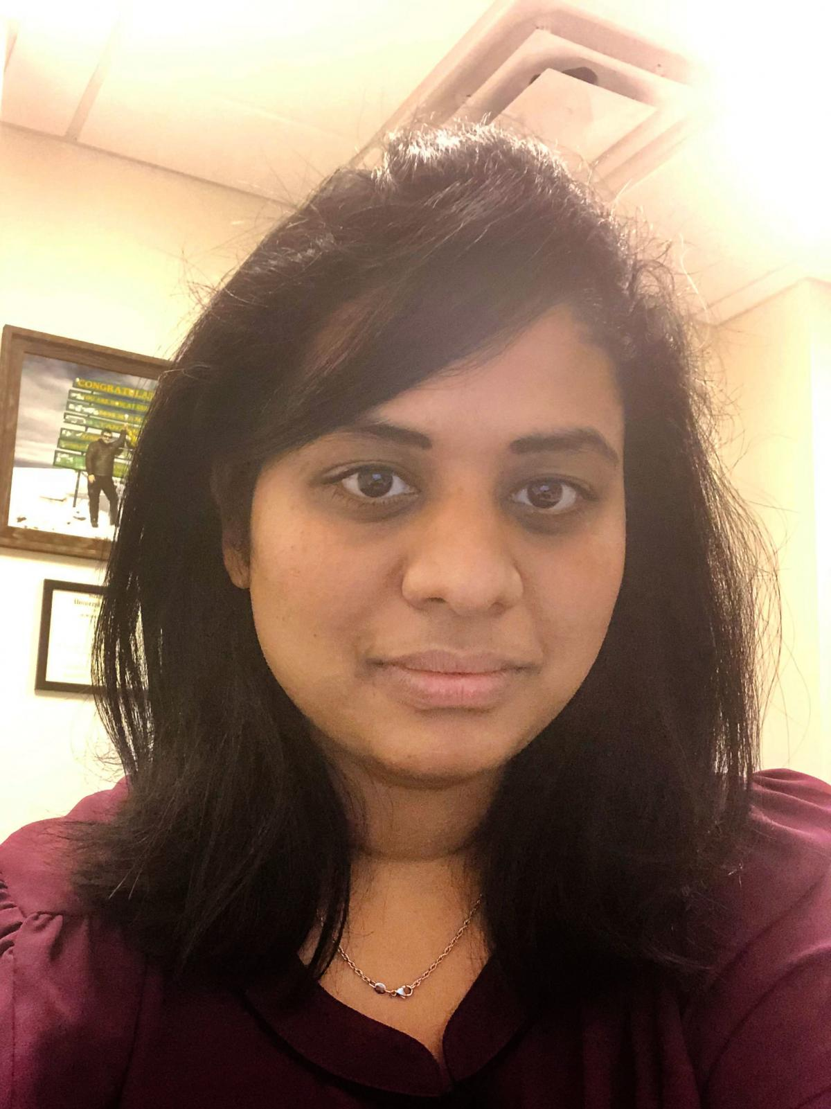 Dr. Chandana Kamireddy, a native of India who was living in Ohio with her husband and their 20 month old child when the pandemic hit.