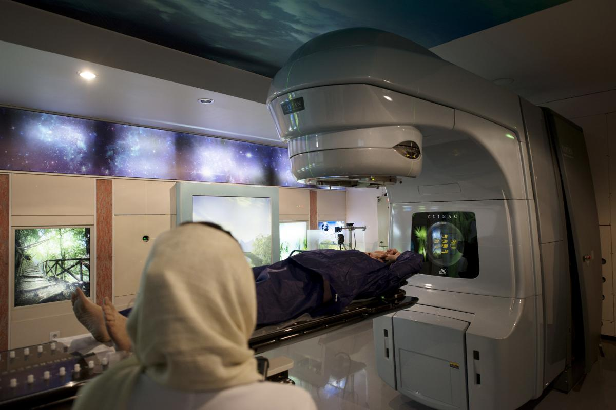 Doctors at Tehran's Roshana Cancer Clinic say it's hard to maintain radiation therapy machines and obtain replacement parts when something breaks.