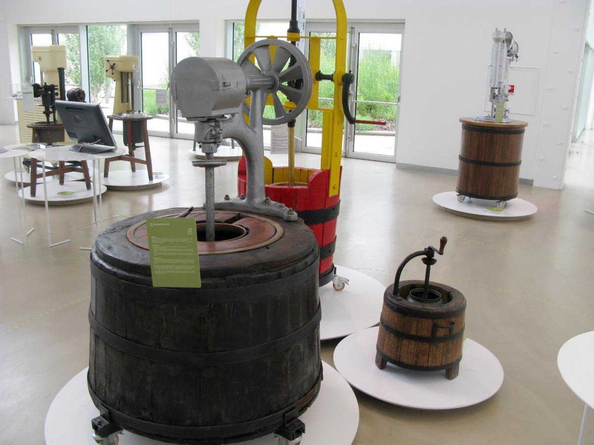 Gelato-making machines through the centuries are on display at the Carpigiani Gelato museum.