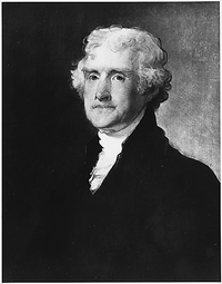 Thomas Jefferson, president, statesman and principal author of the Declaration of Independence.