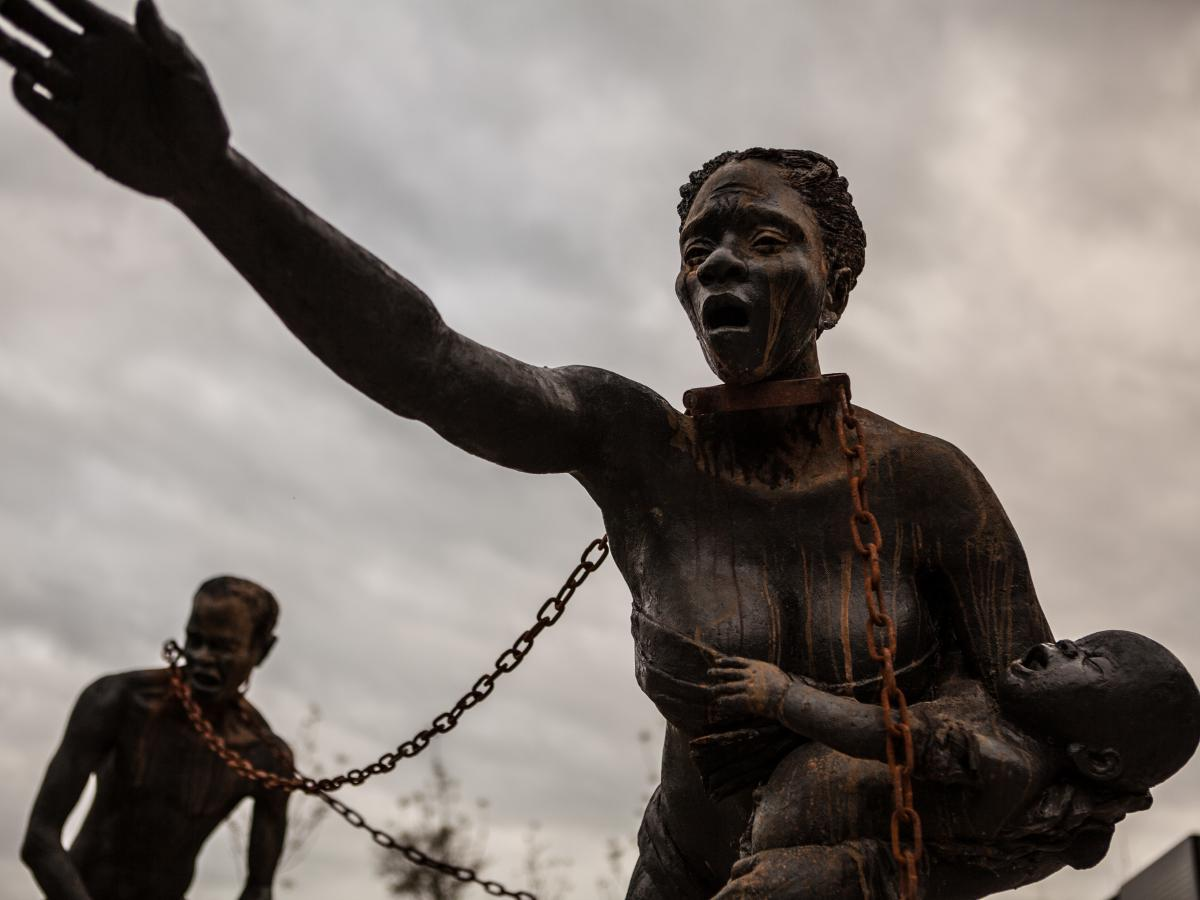 """Stevenson says the Legacy Museum and National Memorial for Peace and Justice are designed to bring visitors """"closer to the anguish and the suffering"""" of the past."""
