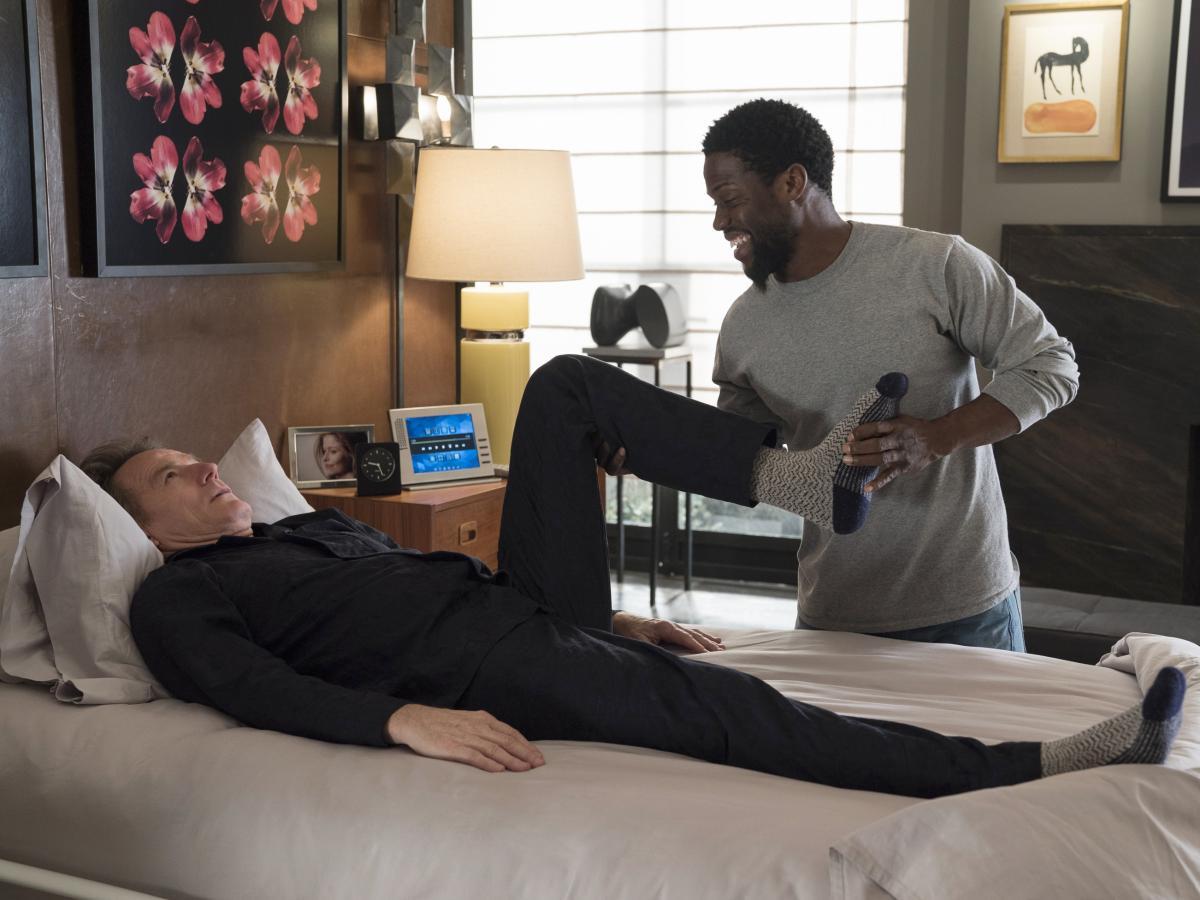 Hart plays the caretaker of a quadriplegic man (played by Bryan Cranston) in The Upside.