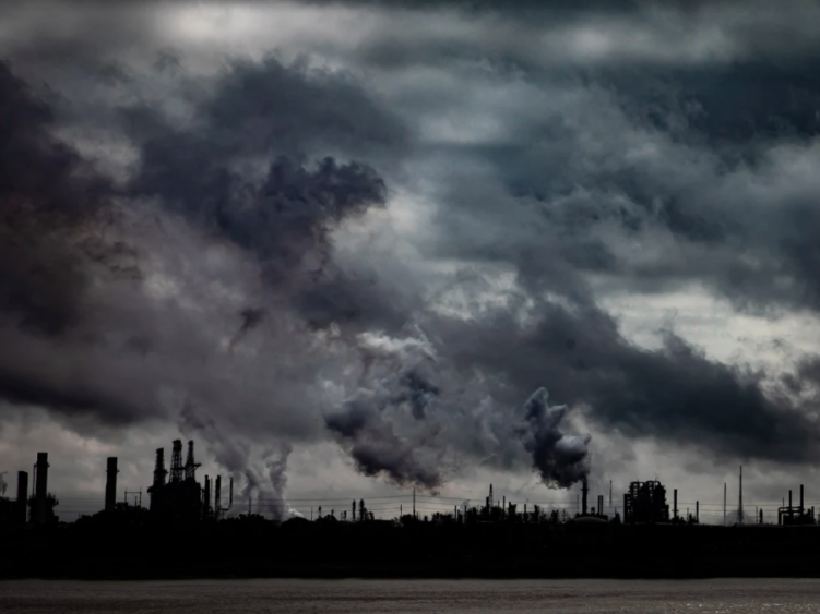 The bank of the Mississippi River north of Baton Rouge is dotted with petrochemical plants, oil refineries and paper mills.