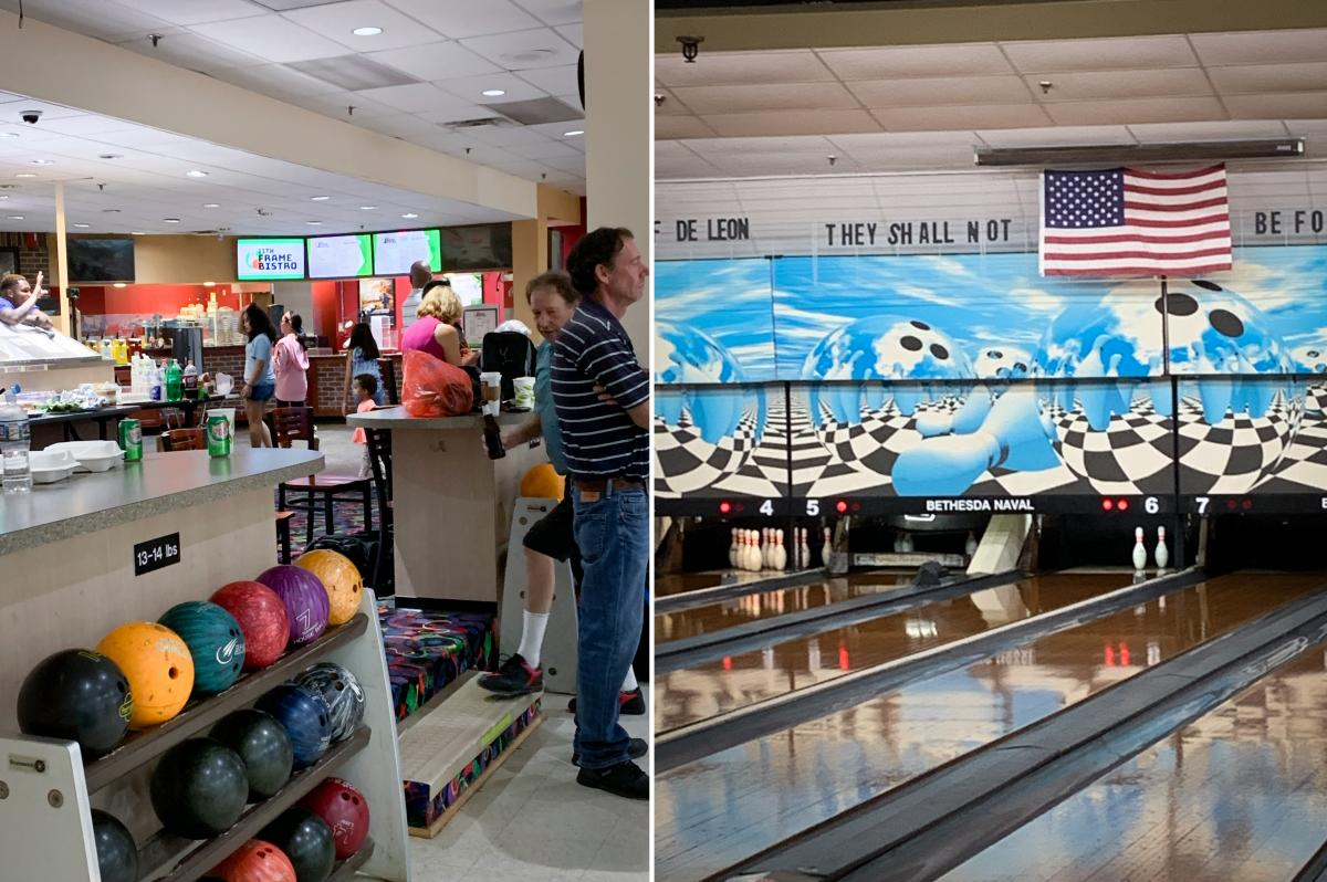 The bowling center at Naval Support Activity Bethesda is used for the last time on Aug. 21.