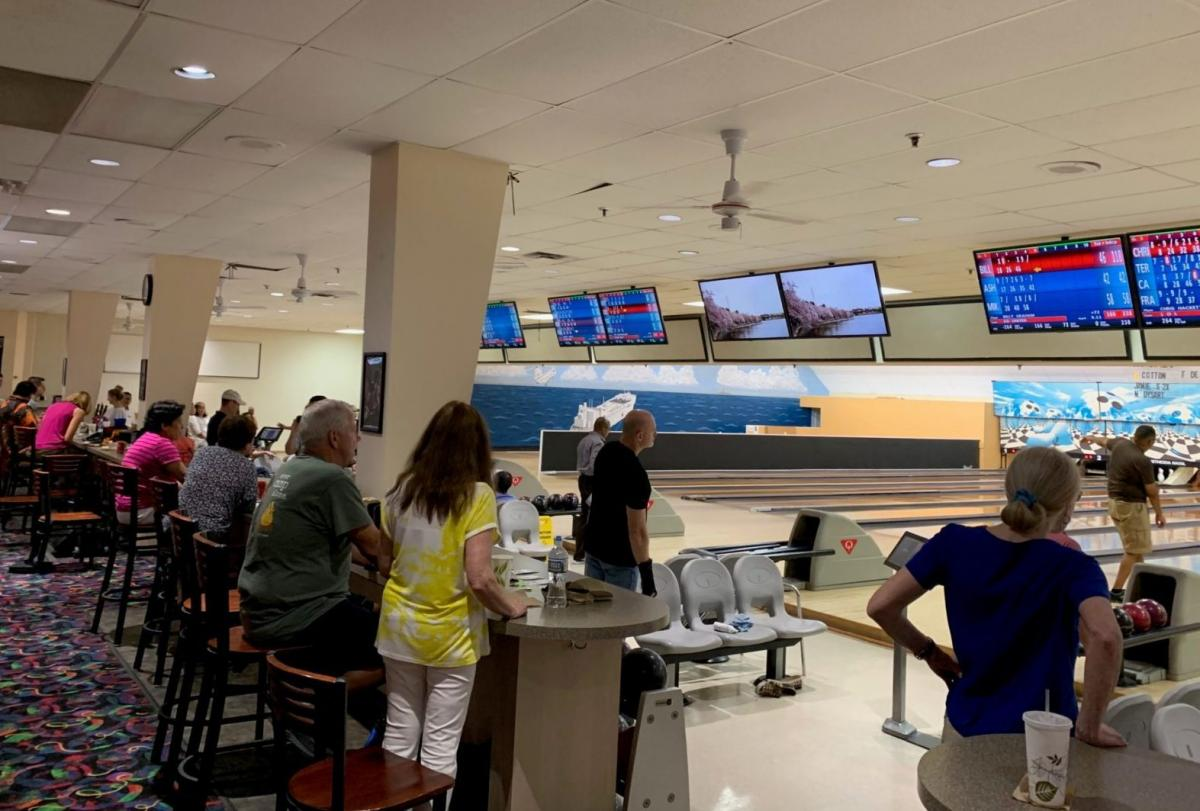 Regulars of the NSA Bethesda bowling alley came together for a few games and a potluck dinner on its final night on Aug. 21.