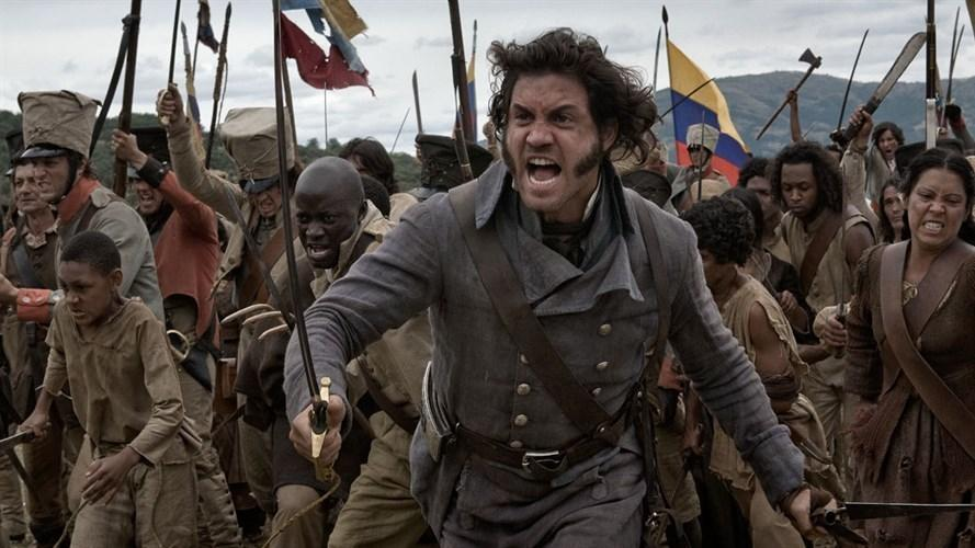 One of the things The Liberator gets right is the multiracial faces of Simon Bolivar's revolution. The film stars Edgar Ramirez.